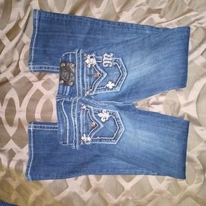 Girls size 10 Miss Me boot cut jeans